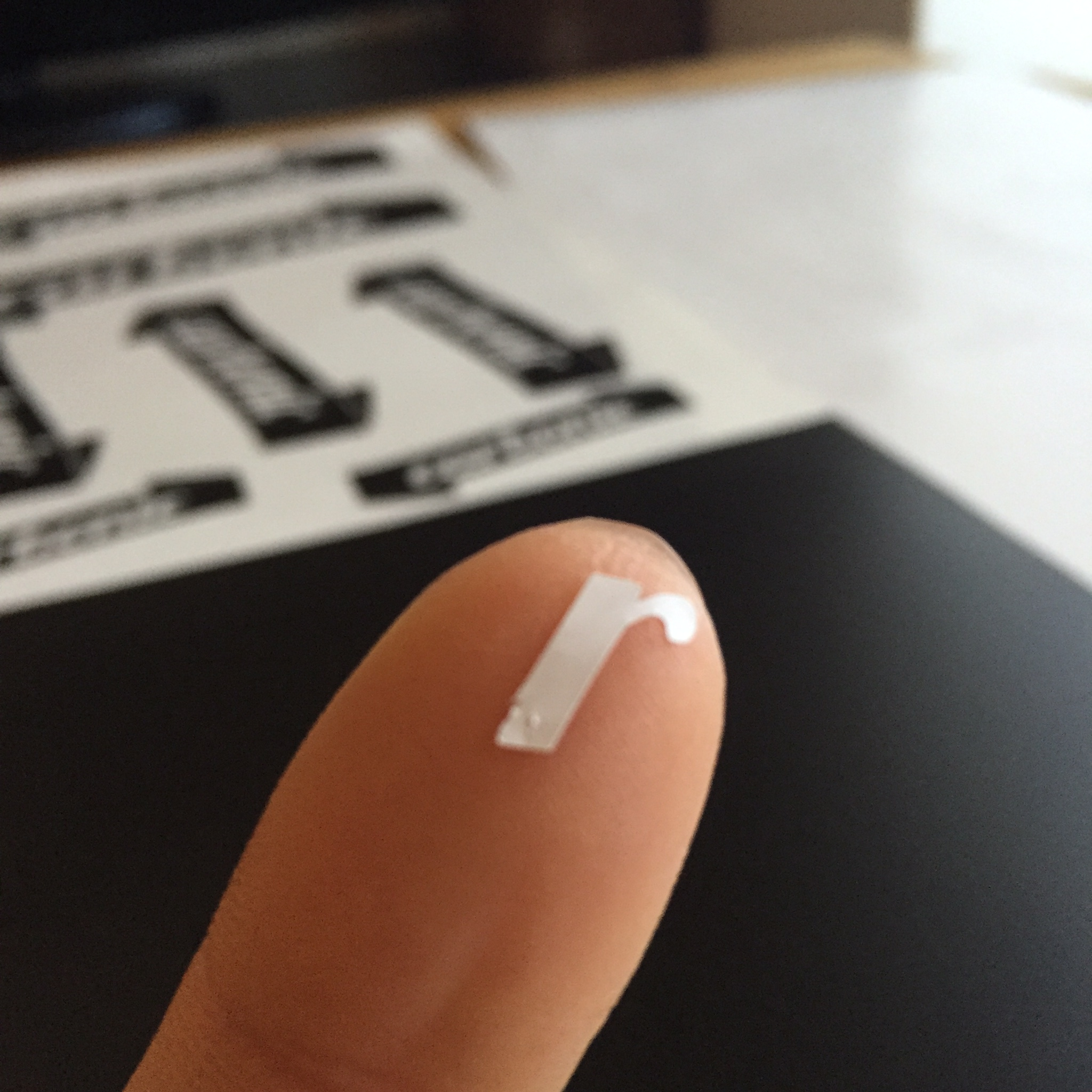 carbonic RIBBON cutting sticker