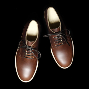 SERVICE SHOES LOW DARK BROWN