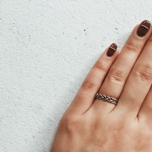 Silver925 thin chain ring