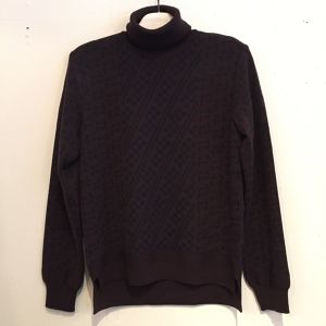 【WRAPINKNOT】CLASSICAL JACQUARD TURTLENECK [WK16AW-PO08M]BROWN
