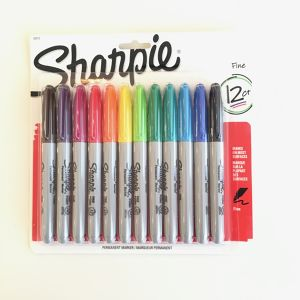 シャーピー マーカー 12色セット Sharpie Permanent Markers, Fine Point, Assorted Colors, 12-Count