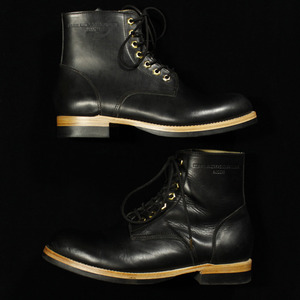U.S. OIL LEATHER WORK BOOTS black