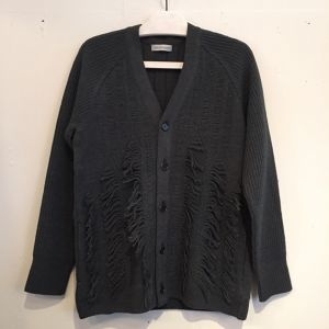 【WRAPINKNOT】FLYING FRINGE KNIT CARDIGAN [WK16AW-CD01M] D GREED