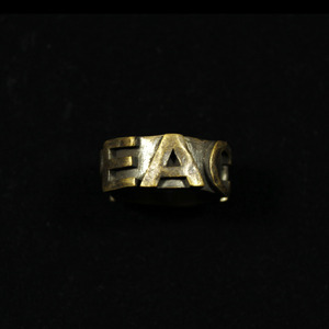 "MESSAGE RING L ""PEACE"""