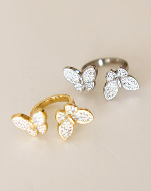 【Ring】Butterfly/Crystal
