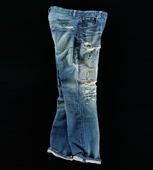 DAMAGE & REPAIR VINTAGE DENIM PANTS 02