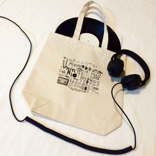 Music Life Words Tote Bag