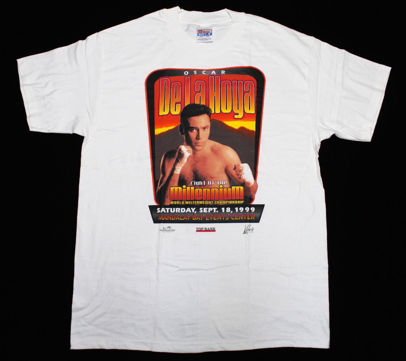 "Oscar De La Hoya オスカー・デ・ラ・ホーヤ Tシャツ ""Fight Of The Millennium"" | ironfist"