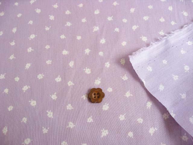 綿プリント小花柄(織物)
