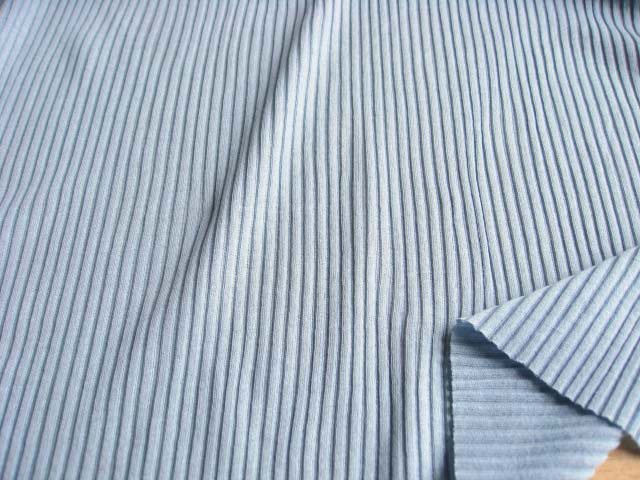 綿強撚糸使い 畝編みニット