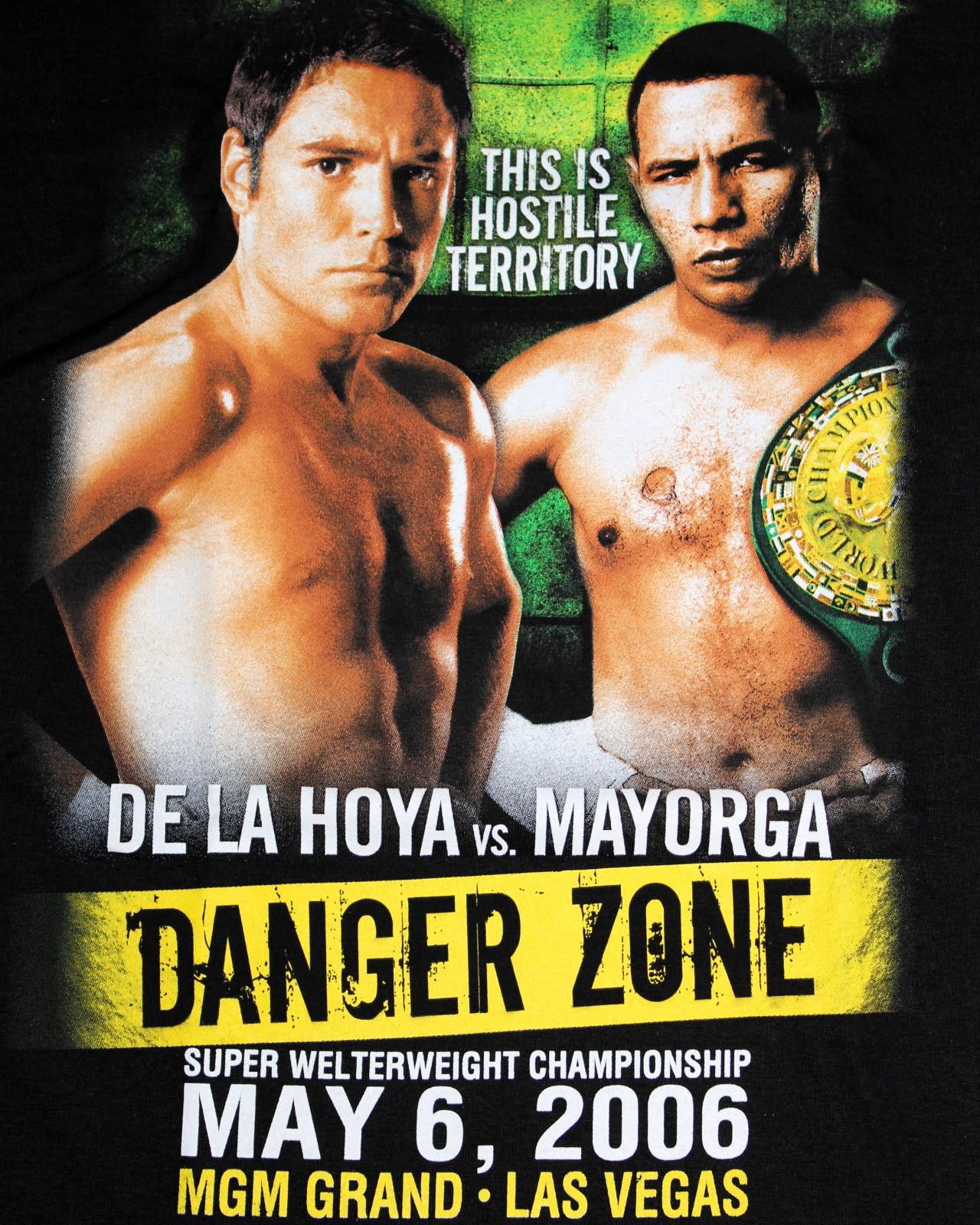 Oscar De La Hoya オスカー・デ・ラ・ホーヤ Tシャツ Oscar De La Hoya vs Ricardo Mayorga    ironfist