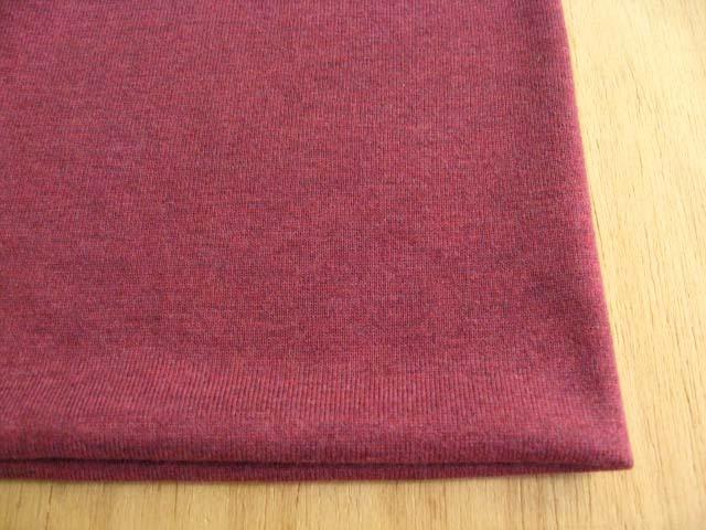 綿(トップ染糸)・テンセル混 杢調天竺ニット