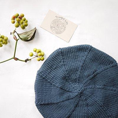 手編みであたたか、肌触りも抜群。オーガニックなふわふわコットンベレー帽