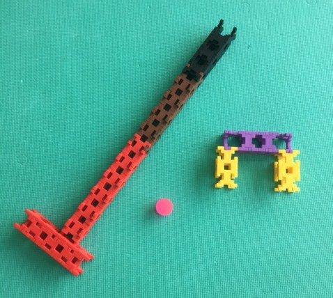ホールインワン!知育玩具で作るブロックで、子供と楽しくミニゴルフ(^^)