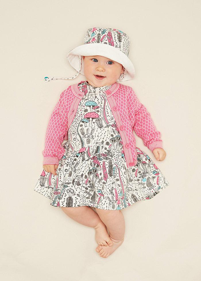 リンクコーデもおすすめな人気子供服ブランドのワンピース。人気の総柄イラストシリーズ!