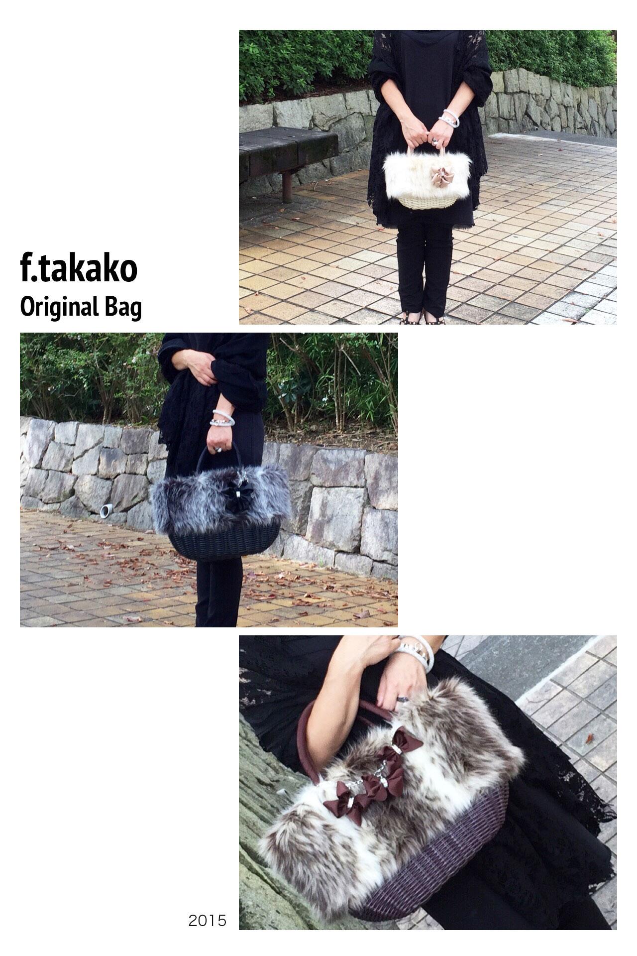 大人の女性の遊び心をくすぐる冬のファーカゴバッグ