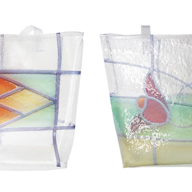 ステンドグラスを表現したバッグ
