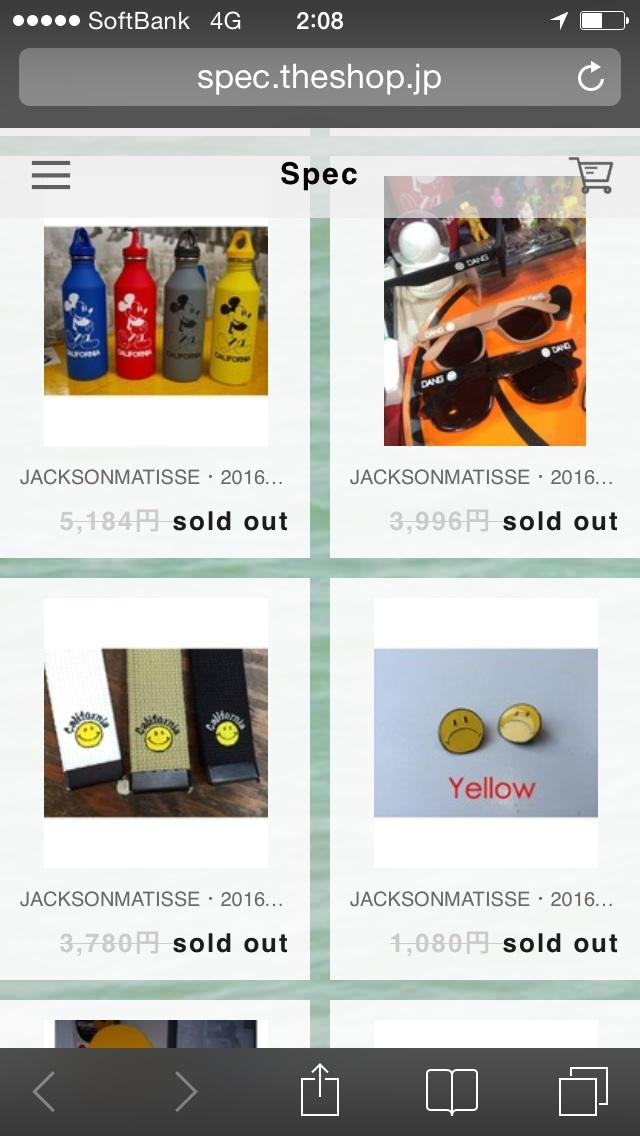 Jackson Matisse 2016S/S ご予約オーダー枠公開中