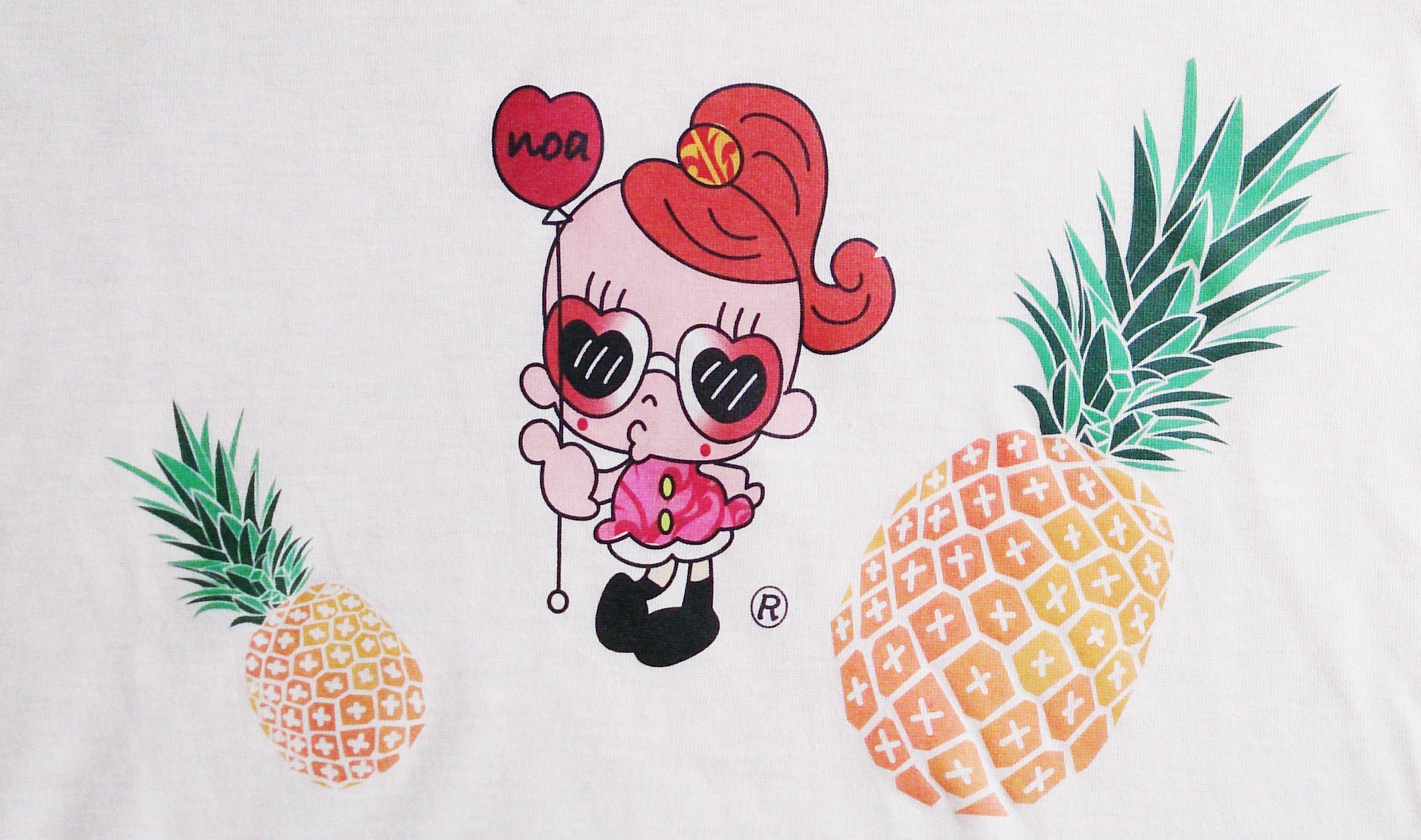 夏だ!!パインだ!!名入れTシャツできました。