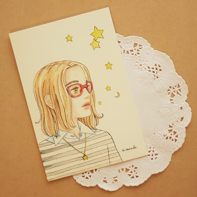 ☆きらきら星と少女のポストカード☆