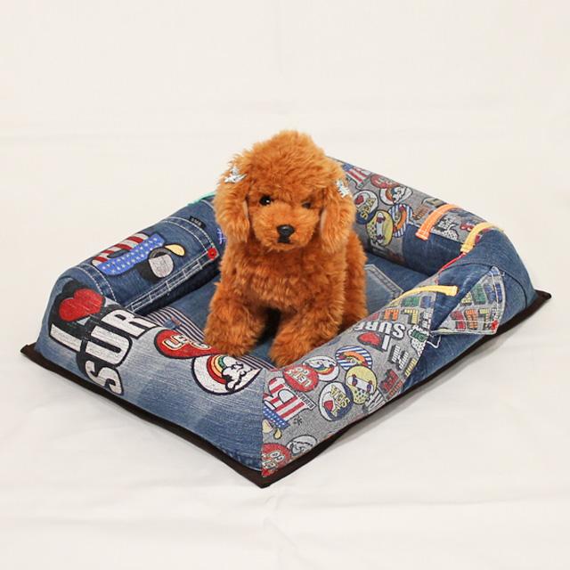 デザインデニムから小型犬用ベッド