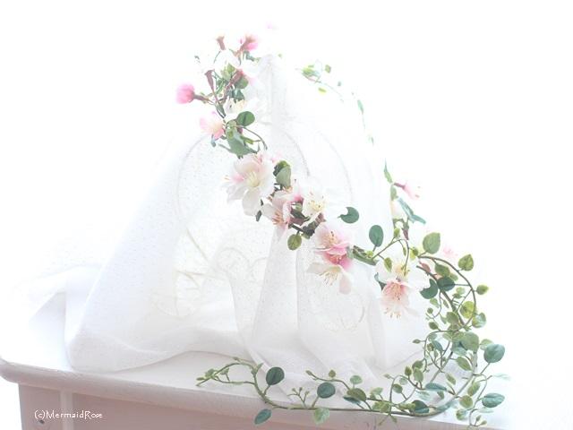 桜の花冠をご用意しました!