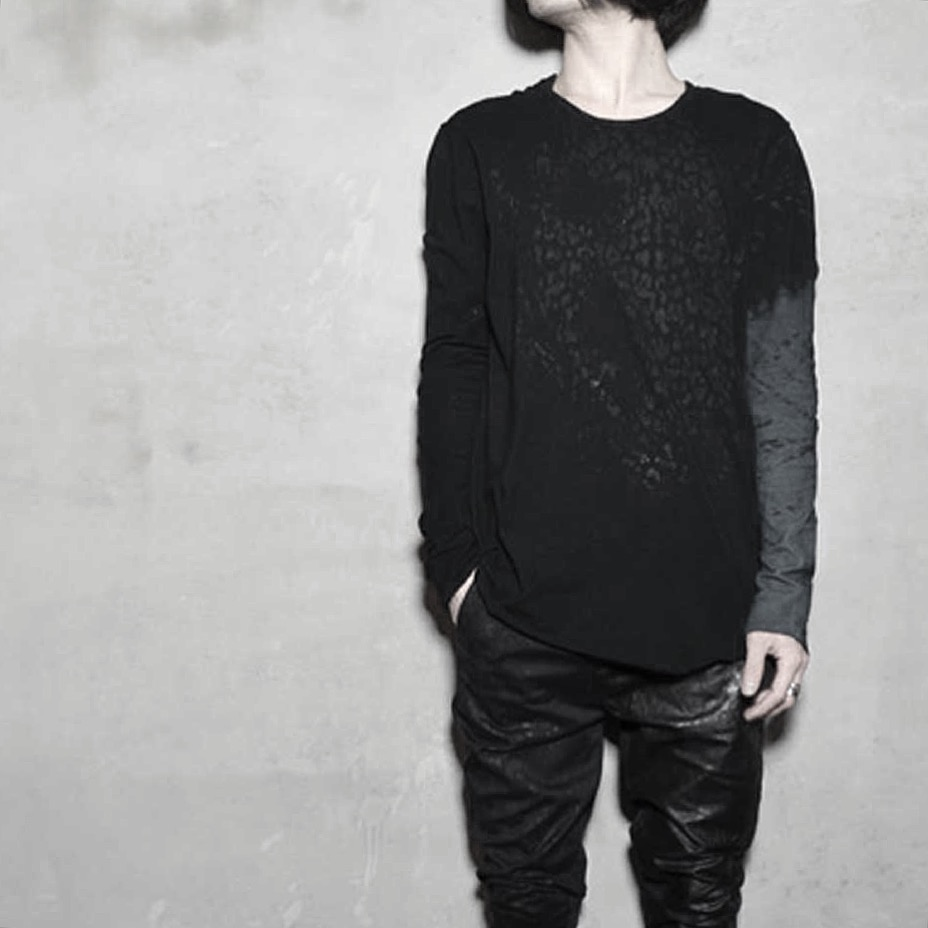Spiral L/S & Leather Cotton Pants  _Dust Leopard