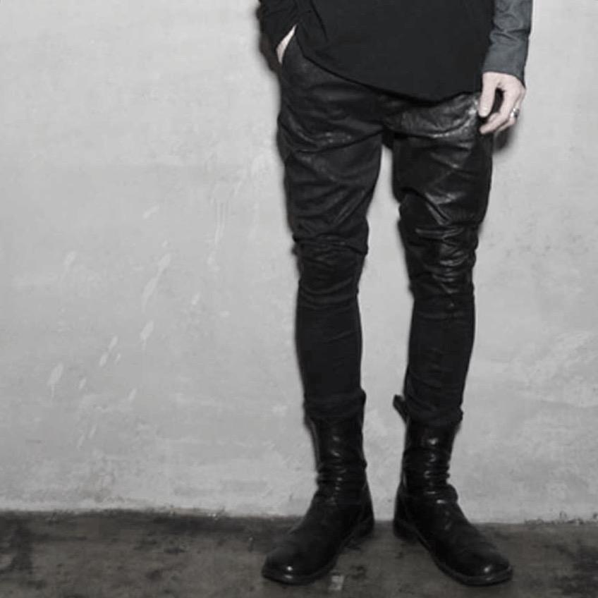Leather Cotton Pants  _Dust Leopard