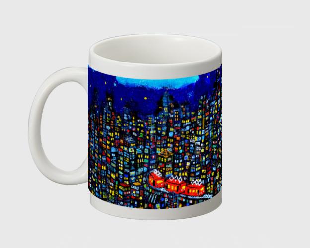 new!! マグカップ/夜のまち otanitaro.com 大谷太郎/絵画*グラフィック
