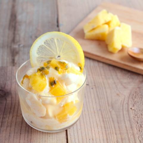 5分でできる。冷凍果物でジェラート風のデザート