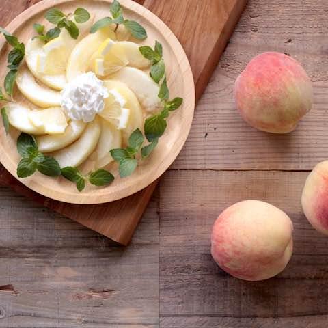 甘い香りが広がる。「桃」を使用したスムージーレシピ5つ