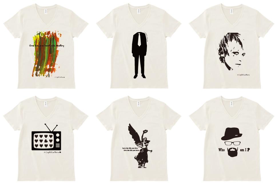 4 Capital LettersのデザインTシャツのショップがオープンしました!!
