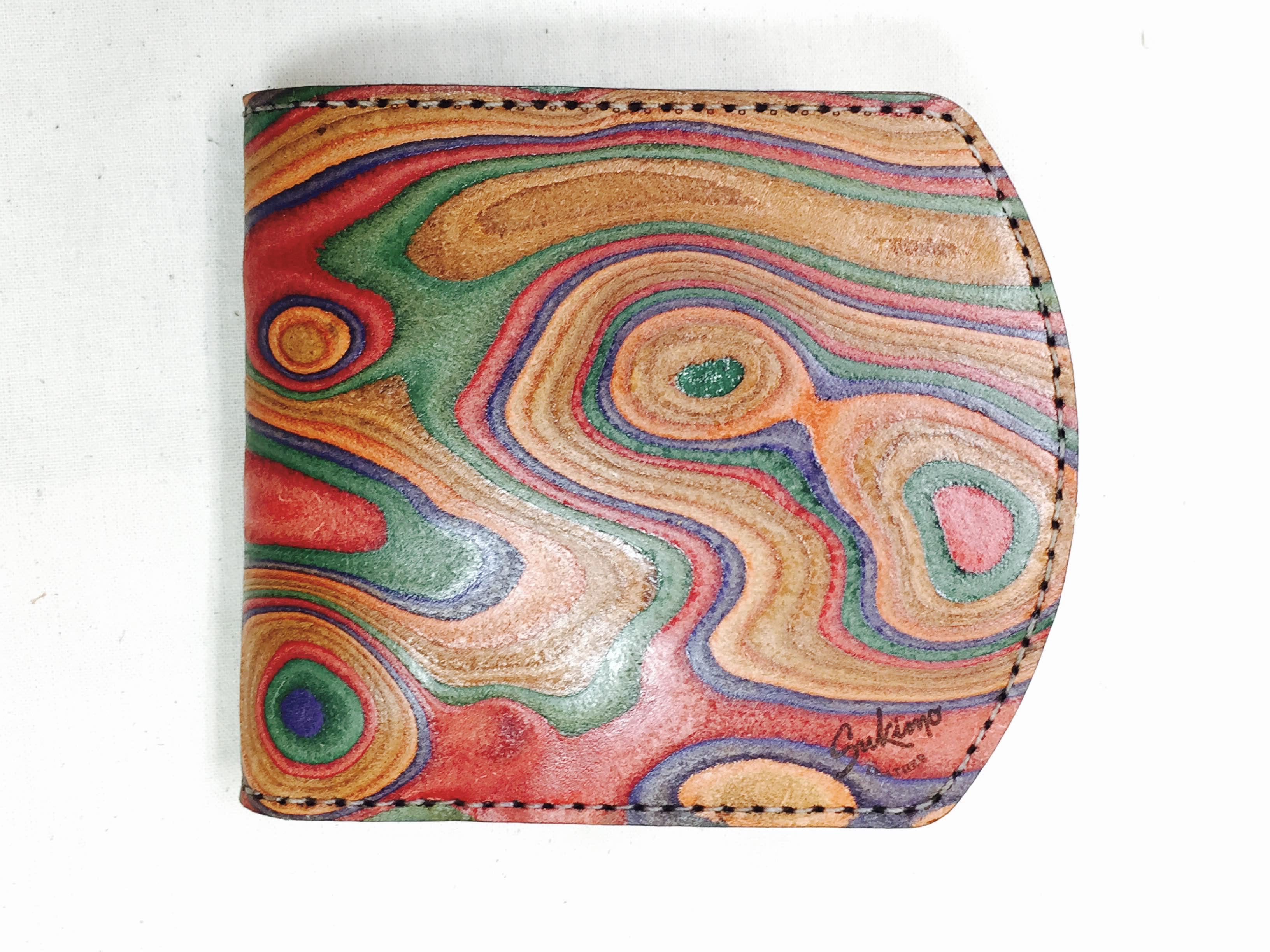 新型二つ折り財布、narrowウォレット