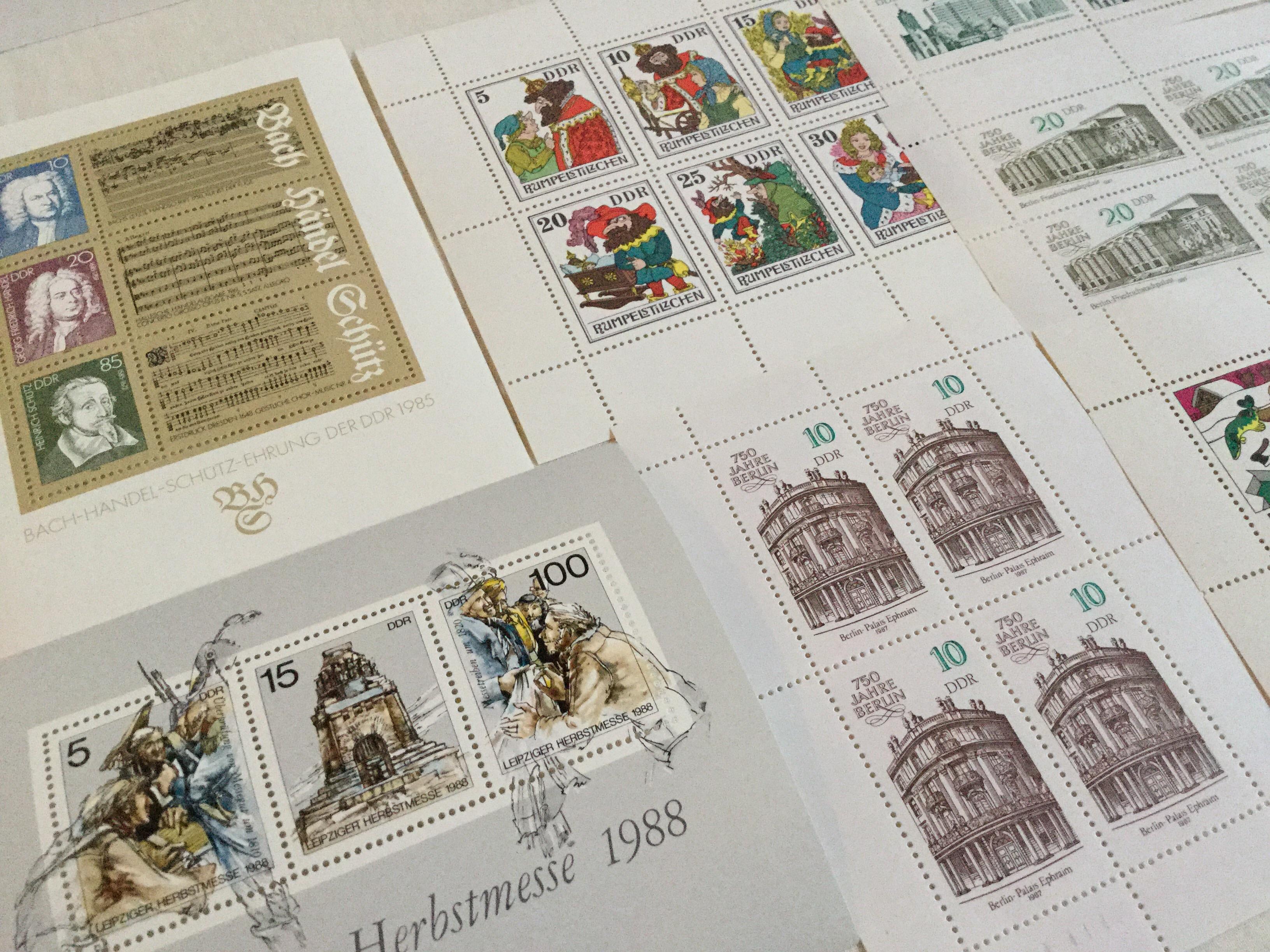 DDR 旧東ドイツ時代の切手シートいろいろ