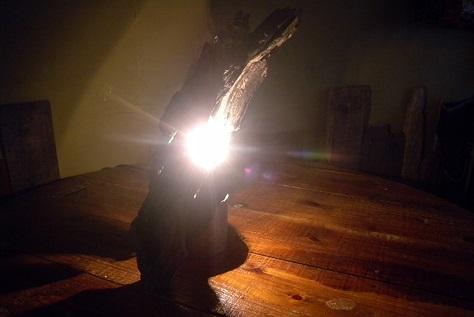 流木ライトの照らすもの