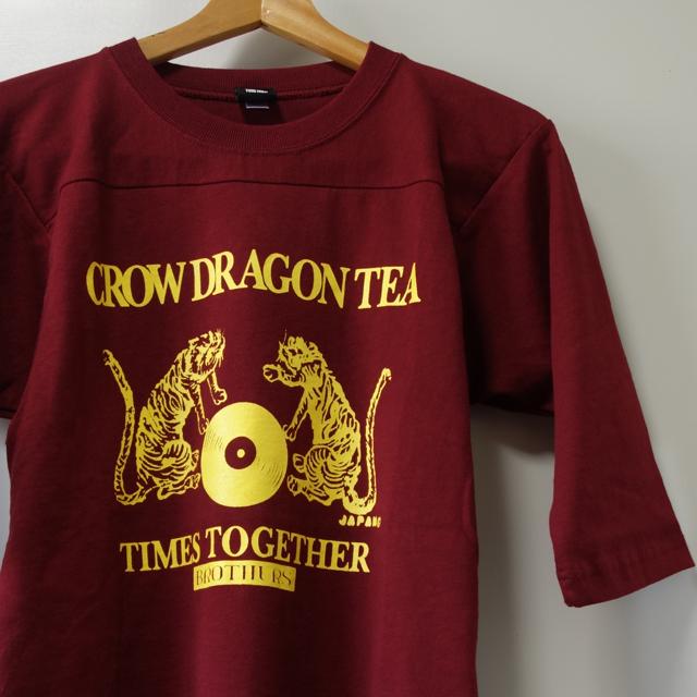 CROW DRAGON TEA 7分袖 フットボールシャツ