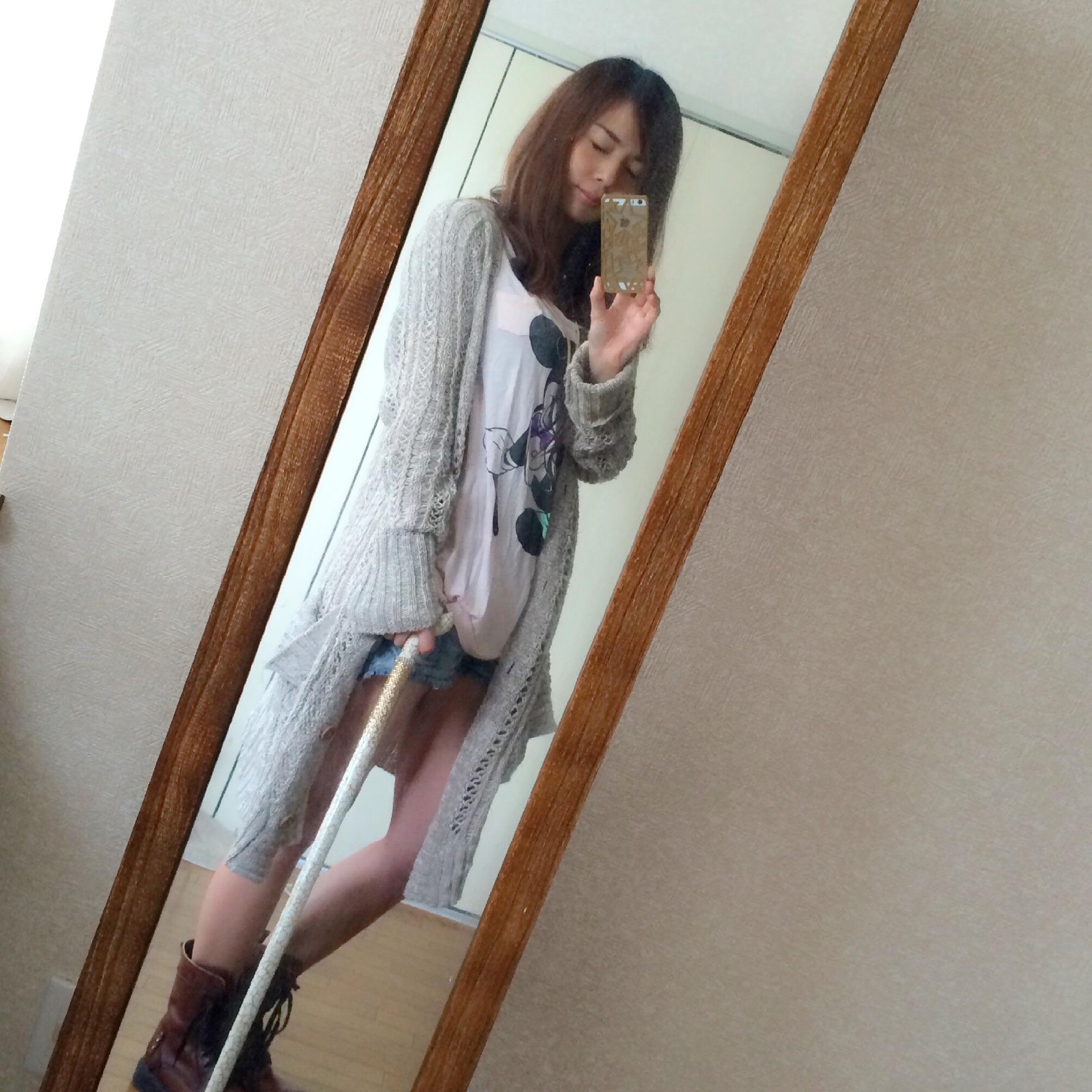 ステッキコーデ☆モザイクホワイト。