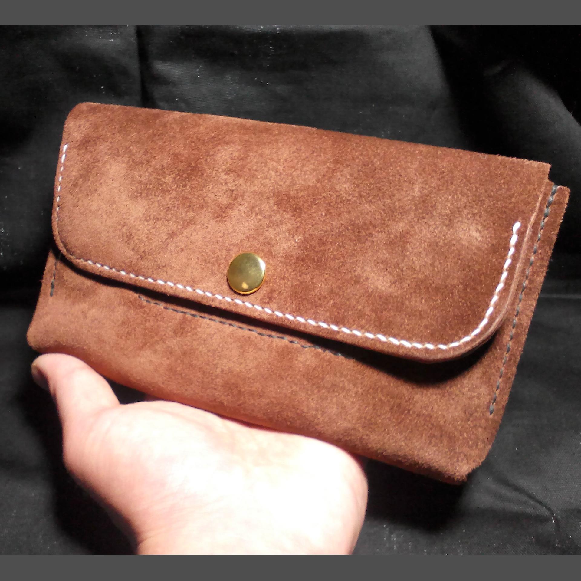 ふんわりやわらか ベロアのお財布。