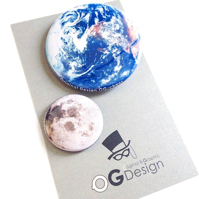 地球と月の 自転公転 缶バッジセット を追加しました☆