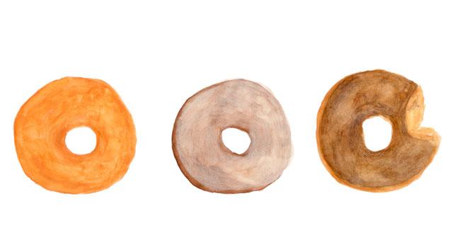 淑女もポケットの中にはドーナツを持ってます。