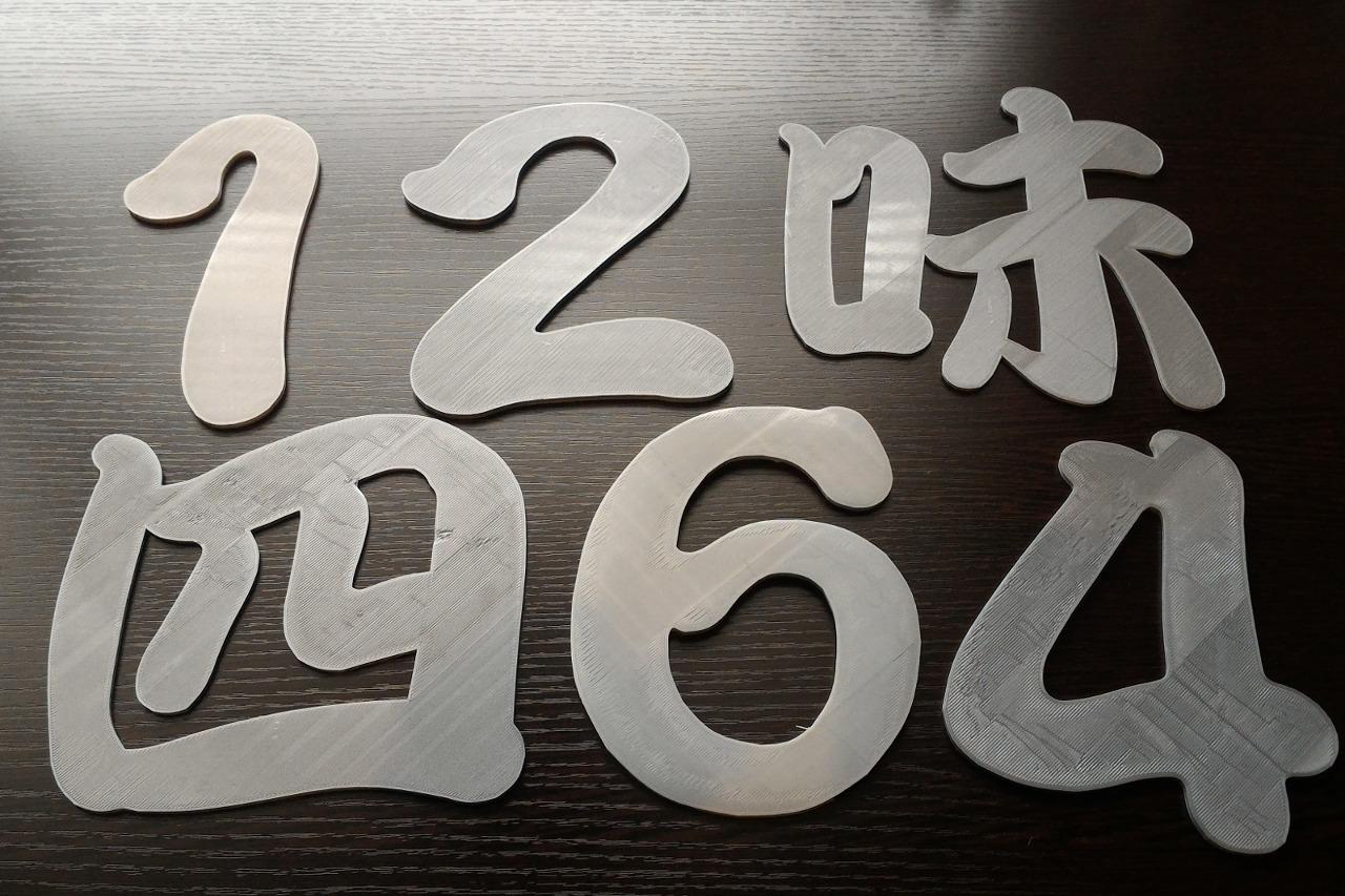 ステンレスと同じ色合いの立体文字を3Dプリンタで作る方法