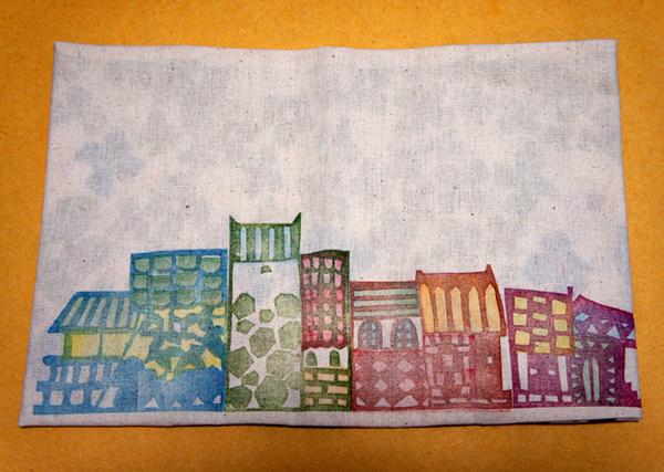 本の中身だけでなくブックカバーにも物語が想像できる「街並ブックカバー」