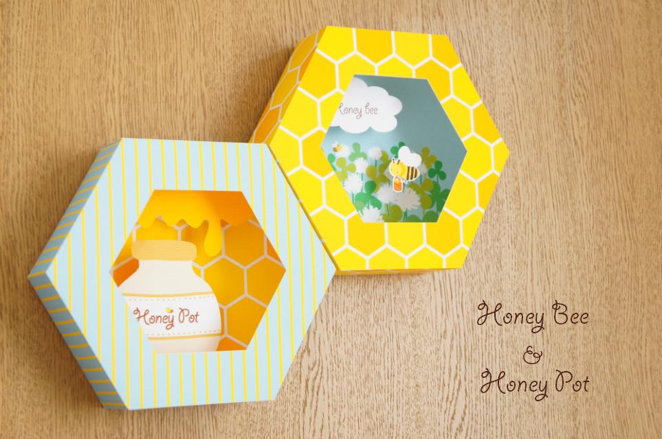 春のお部屋にぴったり。かわいいハニカム型の飾りたくなる紙工作キット。