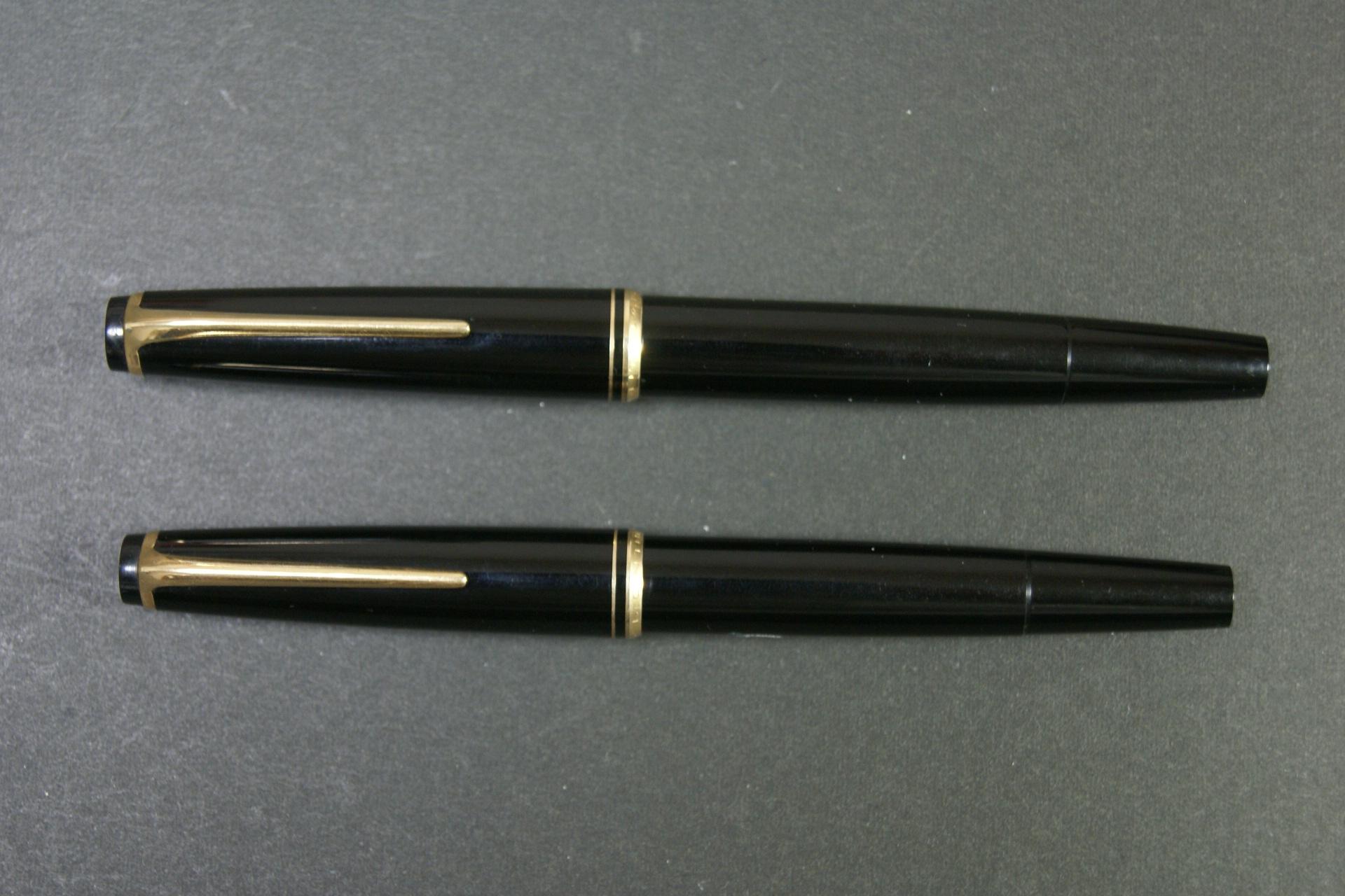 モンブランNo 24とNo 22のサイズ比較
