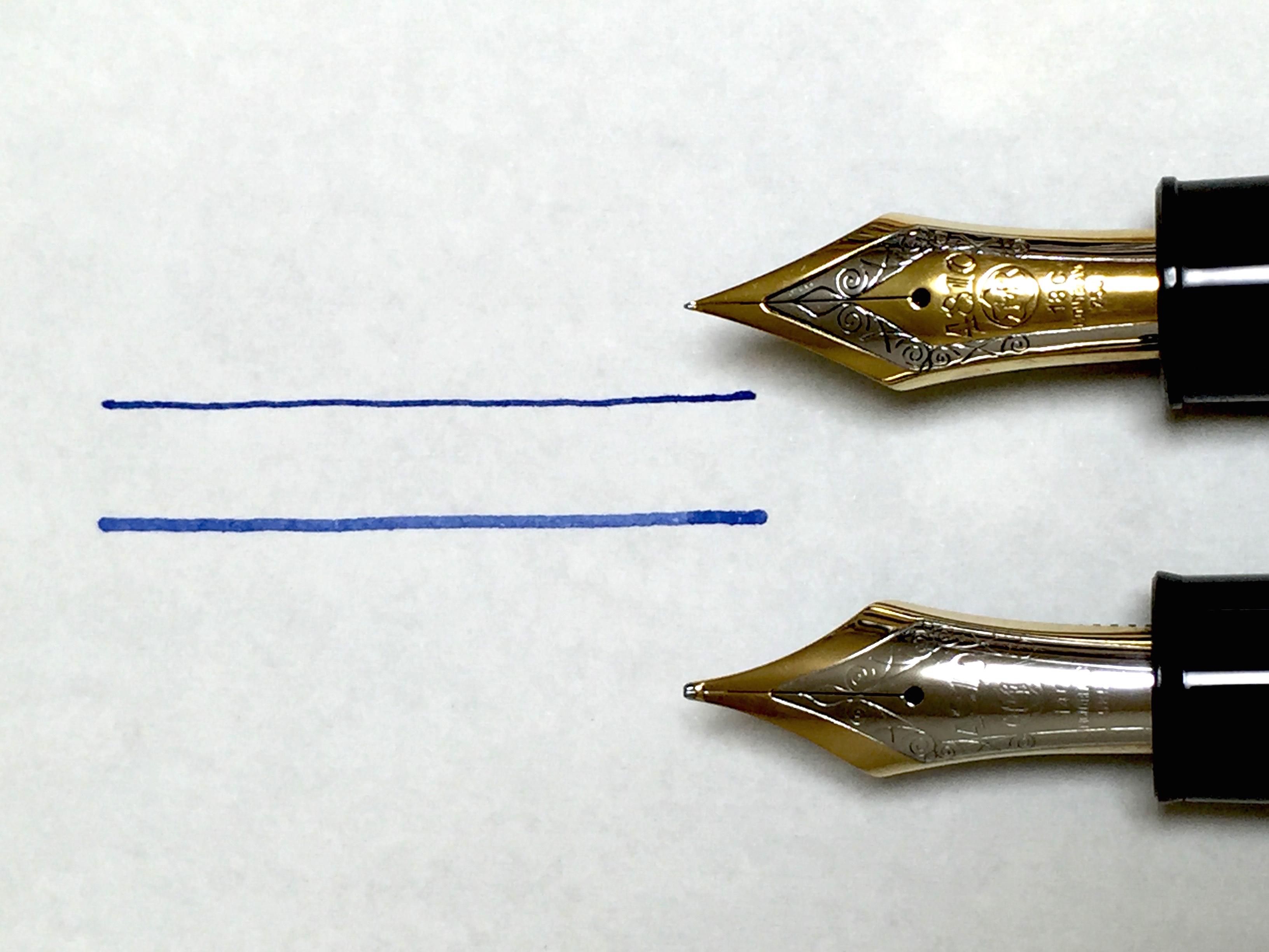 1970年代製造、モンブラン マイスターシュテュック149の比較