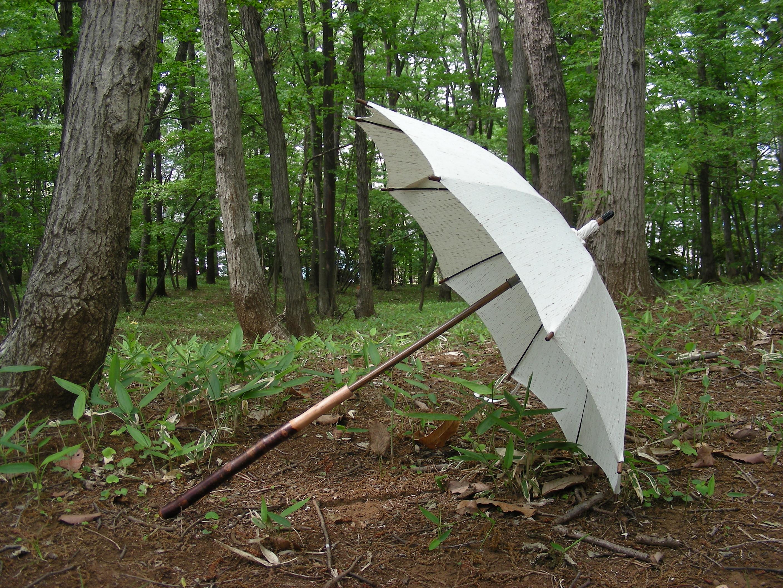 小千谷縮の日傘の早期受注を始めました