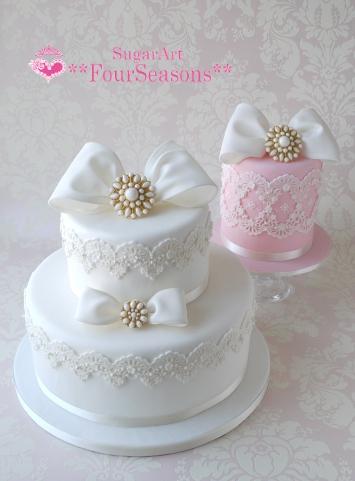 お砂糖のウエディングケーキ その1