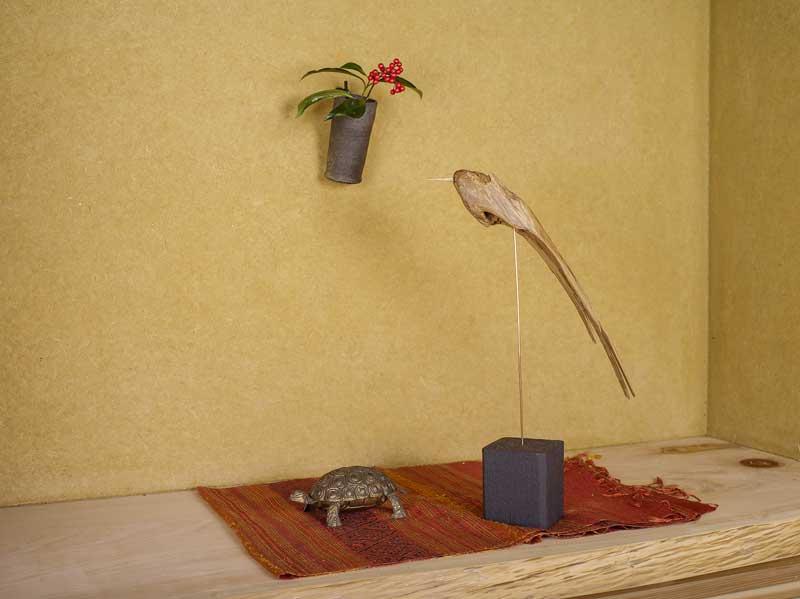 新作、 流木の鳥