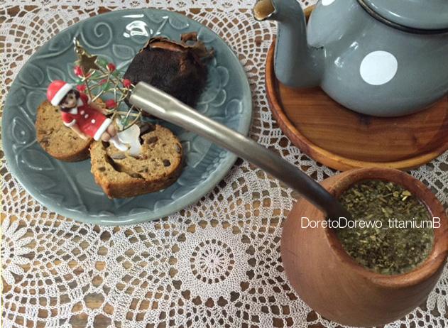 恐らく=世界初?=チタンボンビージャでマテ茶を飲んでみました。