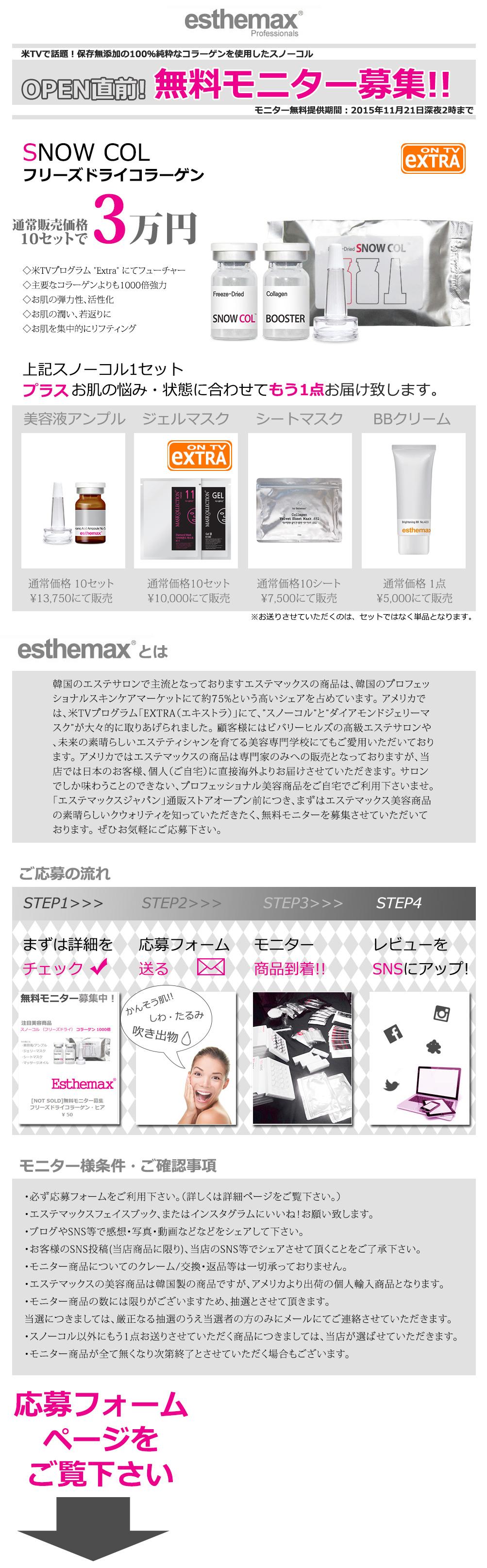 新規美容ブランドのご紹介 エステマックス【無料モニター募集】